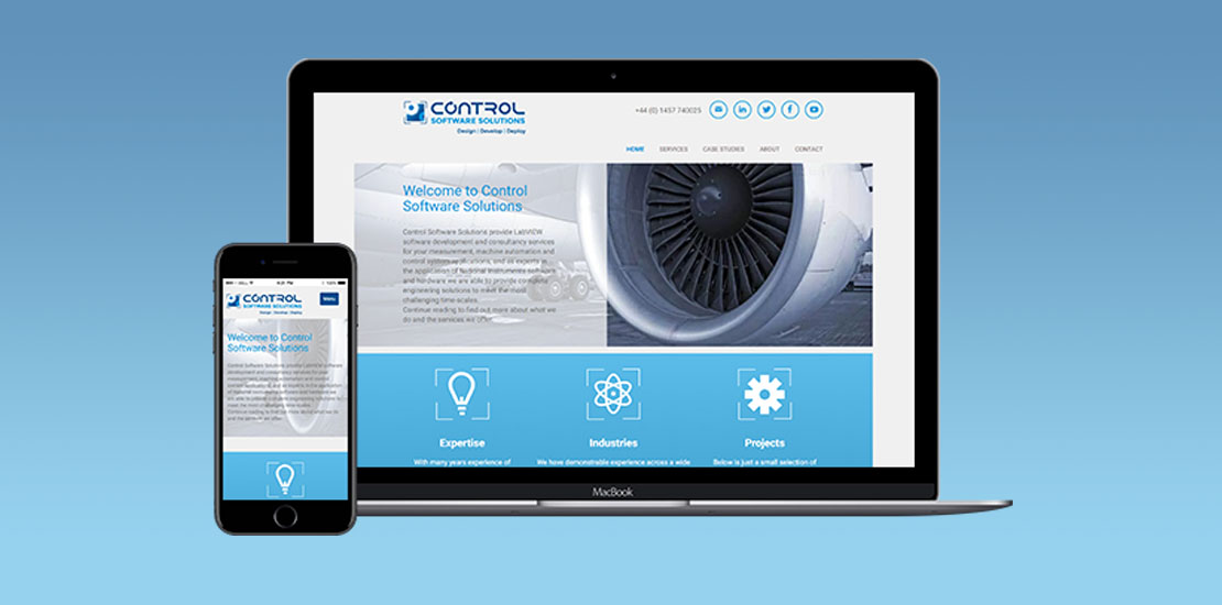 Control Software Solutions webdesign portfolio item