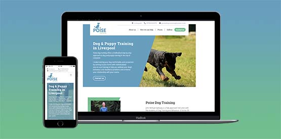 Poise Dog Training Liverpool responsive website design